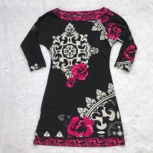 WHBM Pink Floral Dress